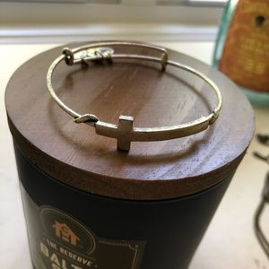 Alex and Ani Silver Cross Bracelet
